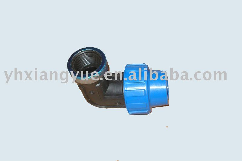 PP 90 degree compression fittings female Elbow