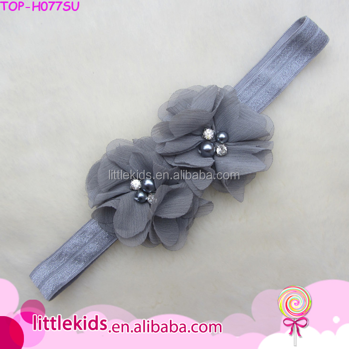 2017 New Boutique Kids Elastic Headband New Born Baby Hair Bows Accessories Wholesale