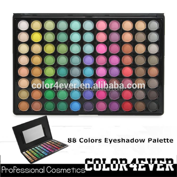 High quality wholesale Private lable 88 Matte eyeshadow palette manufacture makeup