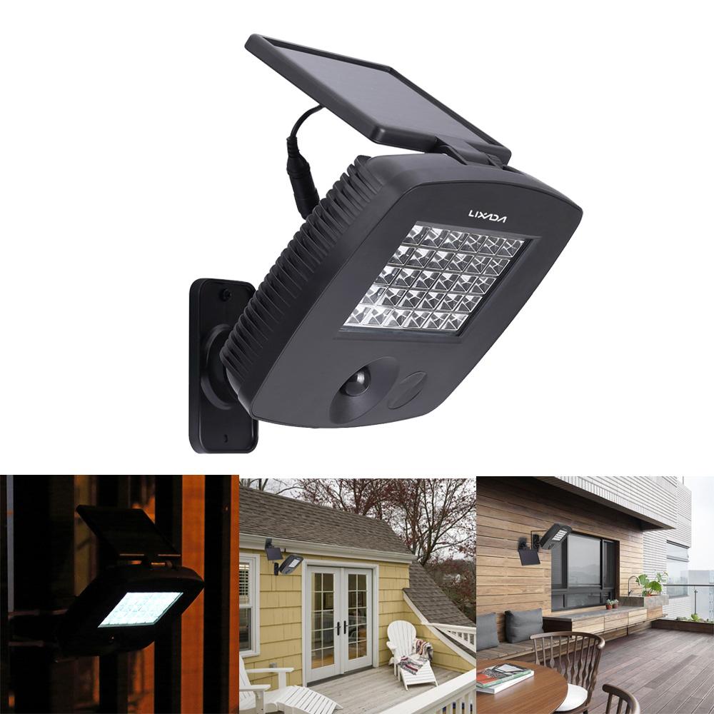 Solar Lights Extra Bright: LIXADA PIR Motion Sensor Lamp Light 30LEDs 200LM IP44 LED