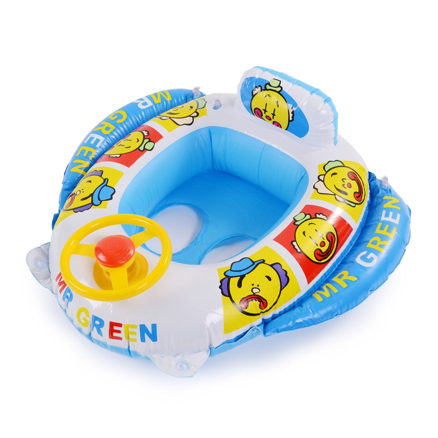 Buy Surepromise Baby Swimming Seat Car Ring Inflatable Float ...