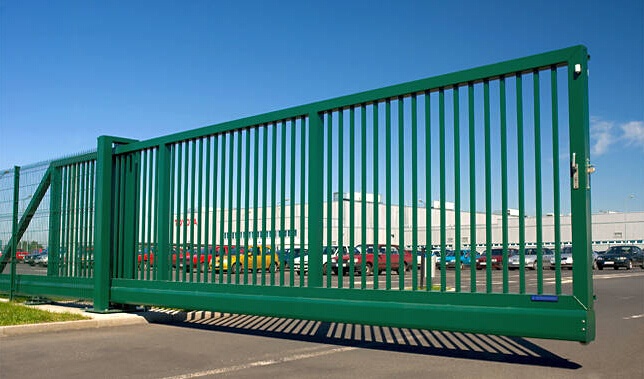 Industrial Slide Gate : Cantilever sliding gate industrial gates