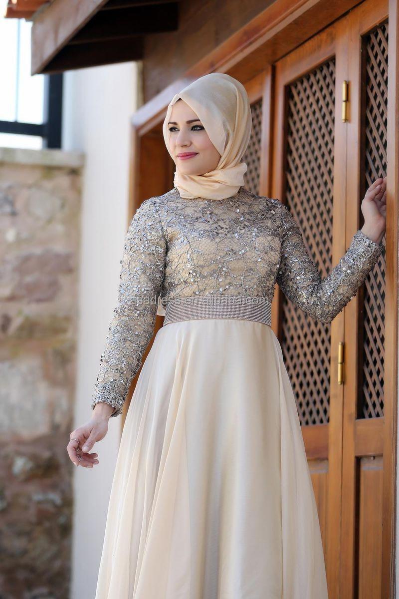 Ate17 Empire Elegant Abaya Top Design Kaftan Blue Beaded Long ...