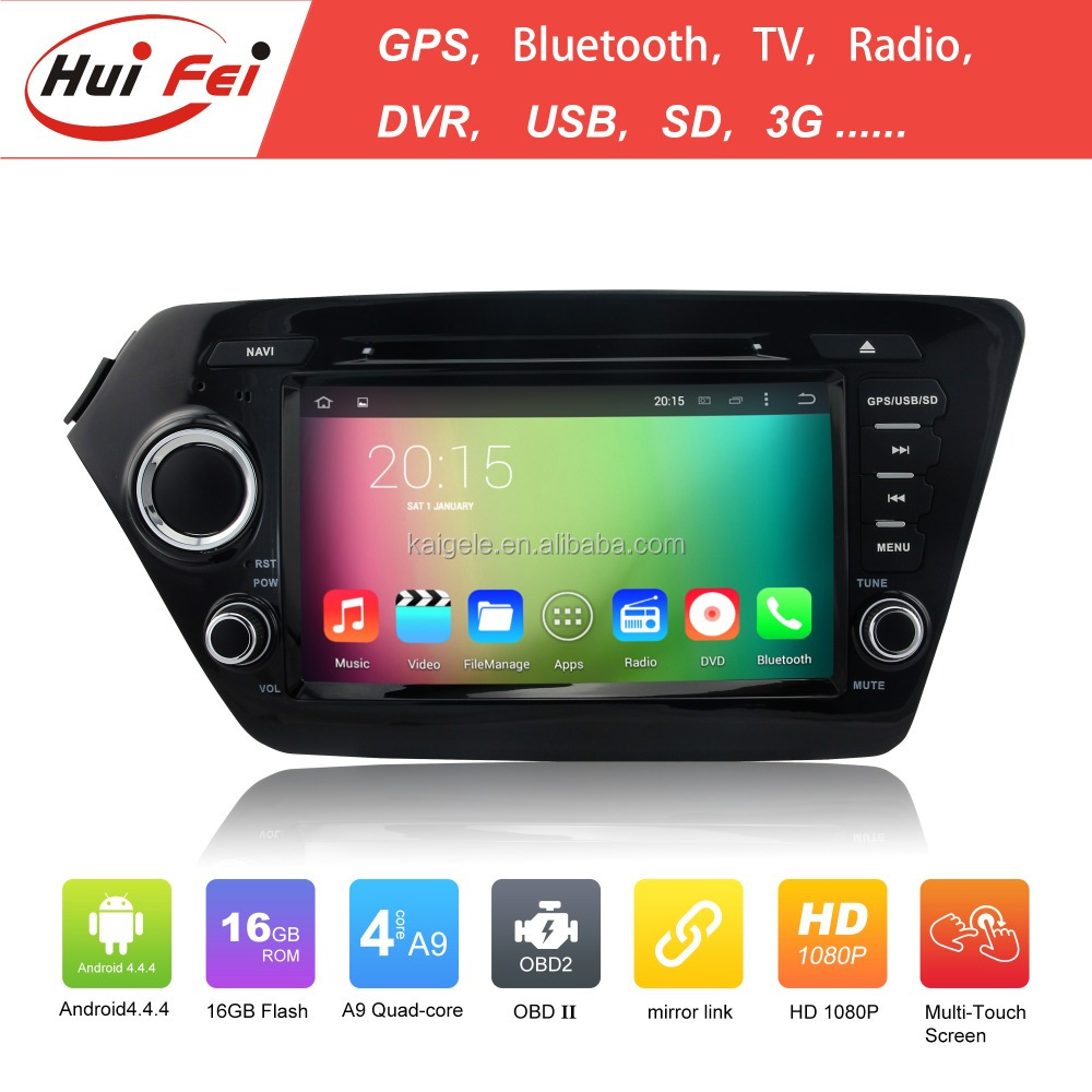 Rk3188 Quad Core Android 4.4 Capacitive Touch Screen 1024*600 Mirror Link Car Stereo For Kia Rio Car Dvd Multimedia