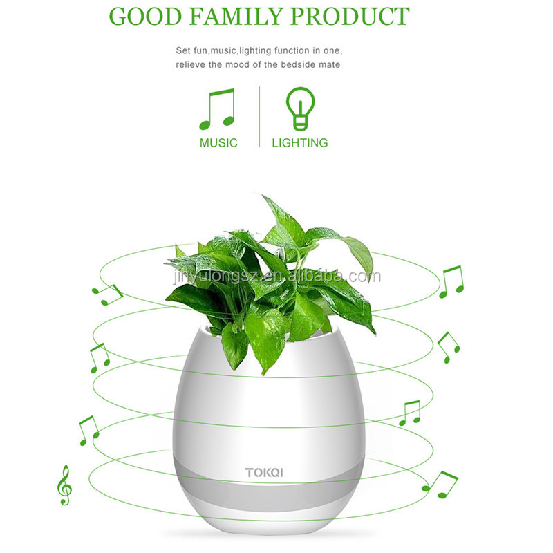 Intelligent Music Rainbow Night Light Bluetooth Flower Pot