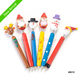 New Christmas wooden ball pen with high grade for christmas gift cartoon decoration