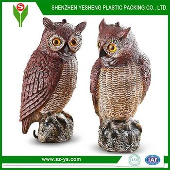 China Wholesale Outdoor Garden Owl Scarecrows Decoy For Scaring The Birds