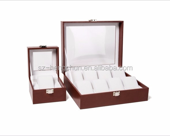 High end MDF leather watch storage boxes