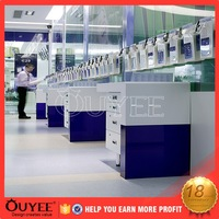 high quality security display stand for cell phone computer shop interior design