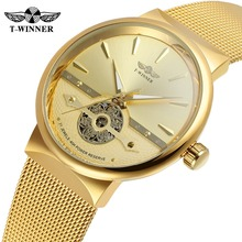 Men Luxury Brand Automatic Stainless Steel Bracelet Mesh Band 3 ATM Water Proof OEM Gift Watches