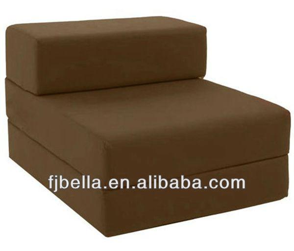 Katoen Enkele Stoel Chocolade Bed Z Gast Fold Out Futon