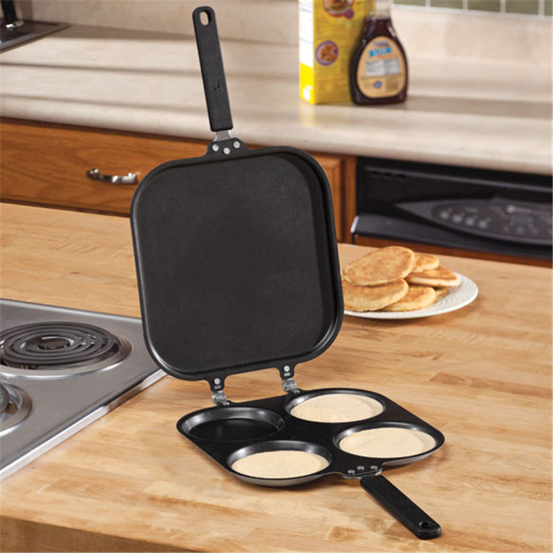 2 Sides Non Stick Grill Non-stick Fry Pan As Seen On TV Iron Pancake Pan