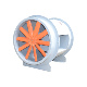Mile Steel Stainless Steel Blades High Temperature Axial Fan Explosion Proof Axial Fan
