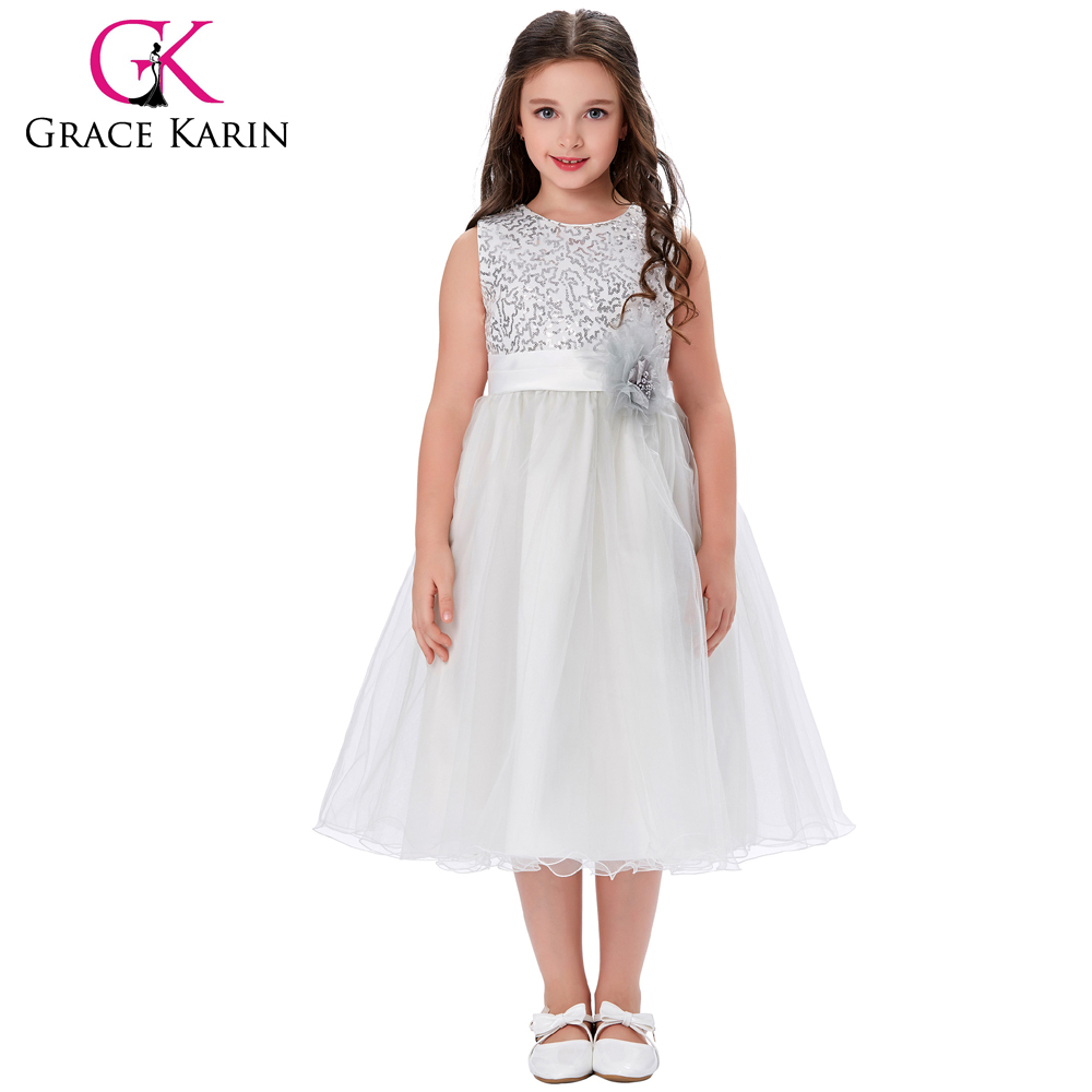 Grace Karin Sleeveless Sequined Flower Girl Princess Bridesmaid Wedding Pageant Party Dress 2~12 Years CL008940-1