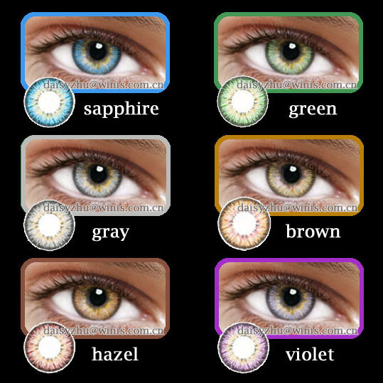 Korean Cosmetic Eye Contacts Soft 6 Months 3 Tone Wholesale Color ...