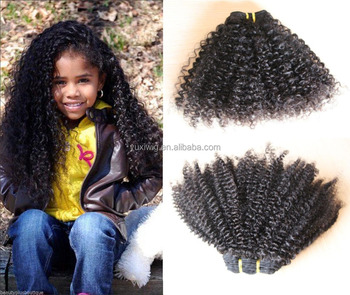 2016 100% Indian remy hair lot in stock cute kinky curly