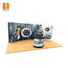 Custom straight Trade show booth pop up display backdrop banner stand/media wall