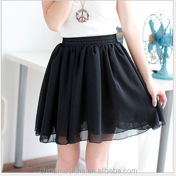 Черная плиссированная юбка для школы