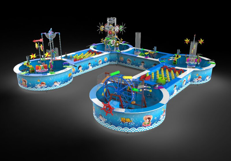 water play game mini water park indoor playground