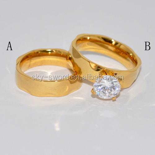 2014 Stainless Steel Latest Gold Ring Designs For Couple Br20065