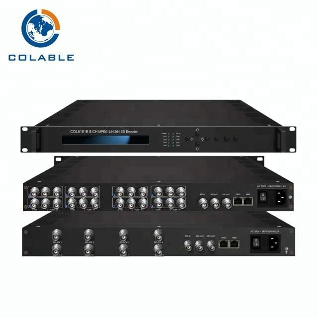 Digital tv headend peralatan catv encoder penuh hd dari 8 input sd dan hd encoder modulator