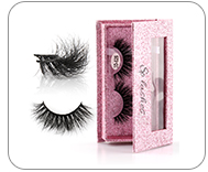 Wholesale Cheap Private Label Red White Round Eyelash Lash Packaging Box
