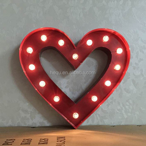 led light up marquee lighting diy wall hanging lighted metal cheap big decorative heart&home
