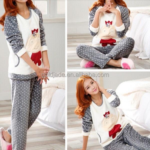 date pyjama femme hiver dinde femmes v tements de nuit avec molleton tissu pyjamas id de. Black Bedroom Furniture Sets. Home Design Ideas