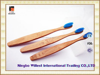Travel portable personal oral hygiene bamboo toothbrush