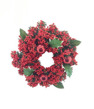 12 Inch Artificial Red Berry Christmas Wreath - Buy Red Berry ...