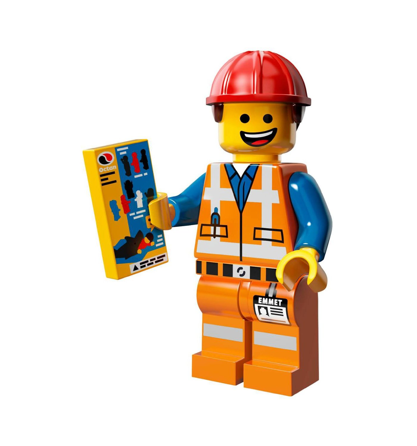 Buy Lego Movie Loose Emmet Minifigure With Piece Of Resistance Grin