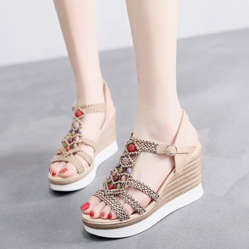 Buy Wedge Heel Sandal Shoes,New Sandal
