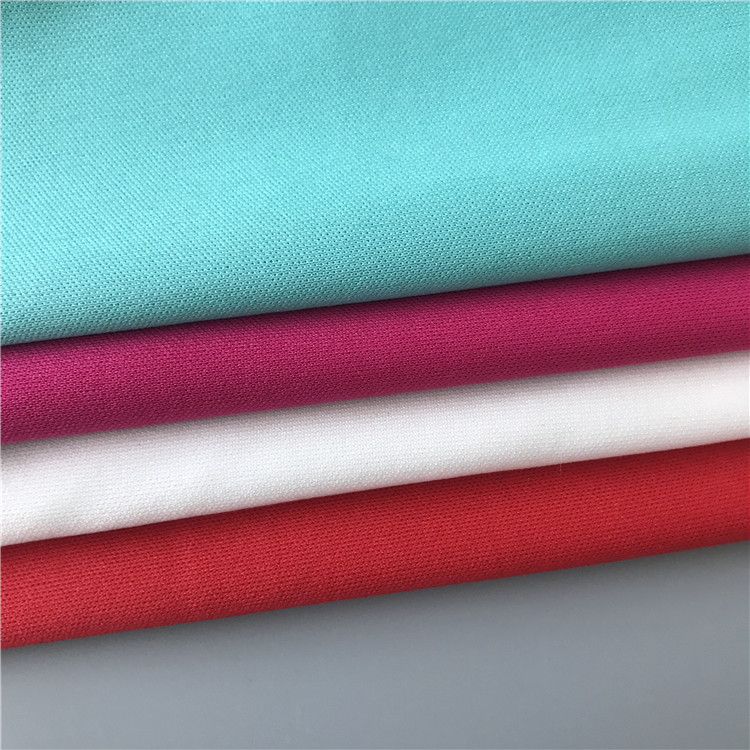 Hot sale 75D plain dyed 100% polyester interlock weft knitted fabric in shaoxing