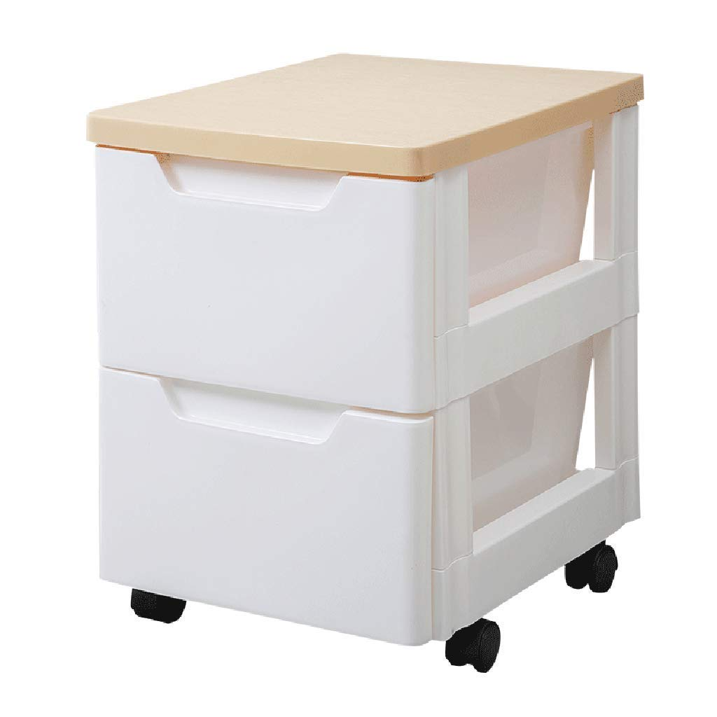 WJ Drawers Drawer Storage Trolley, Monochrome Mobile Storage Trolley Home,Office & Salon (Size : 324046cm)