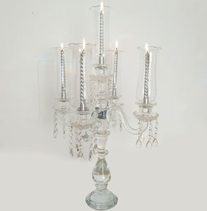 Hot selling wedding decoration crystal candelabra wholesale