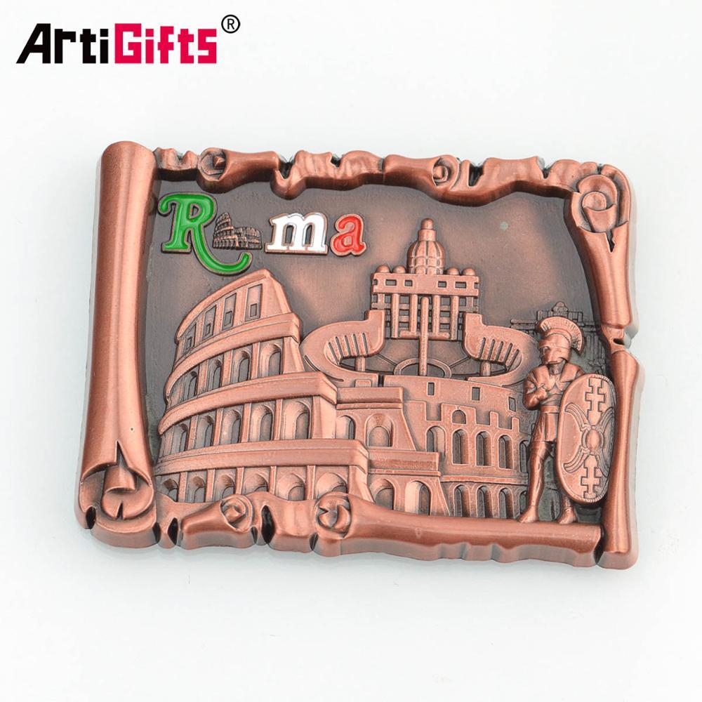 Oem 3D Magnete Del Frigorifero Maker Souvenir In Metallo Bianco Personalizzato Magnete Del Frigorifero