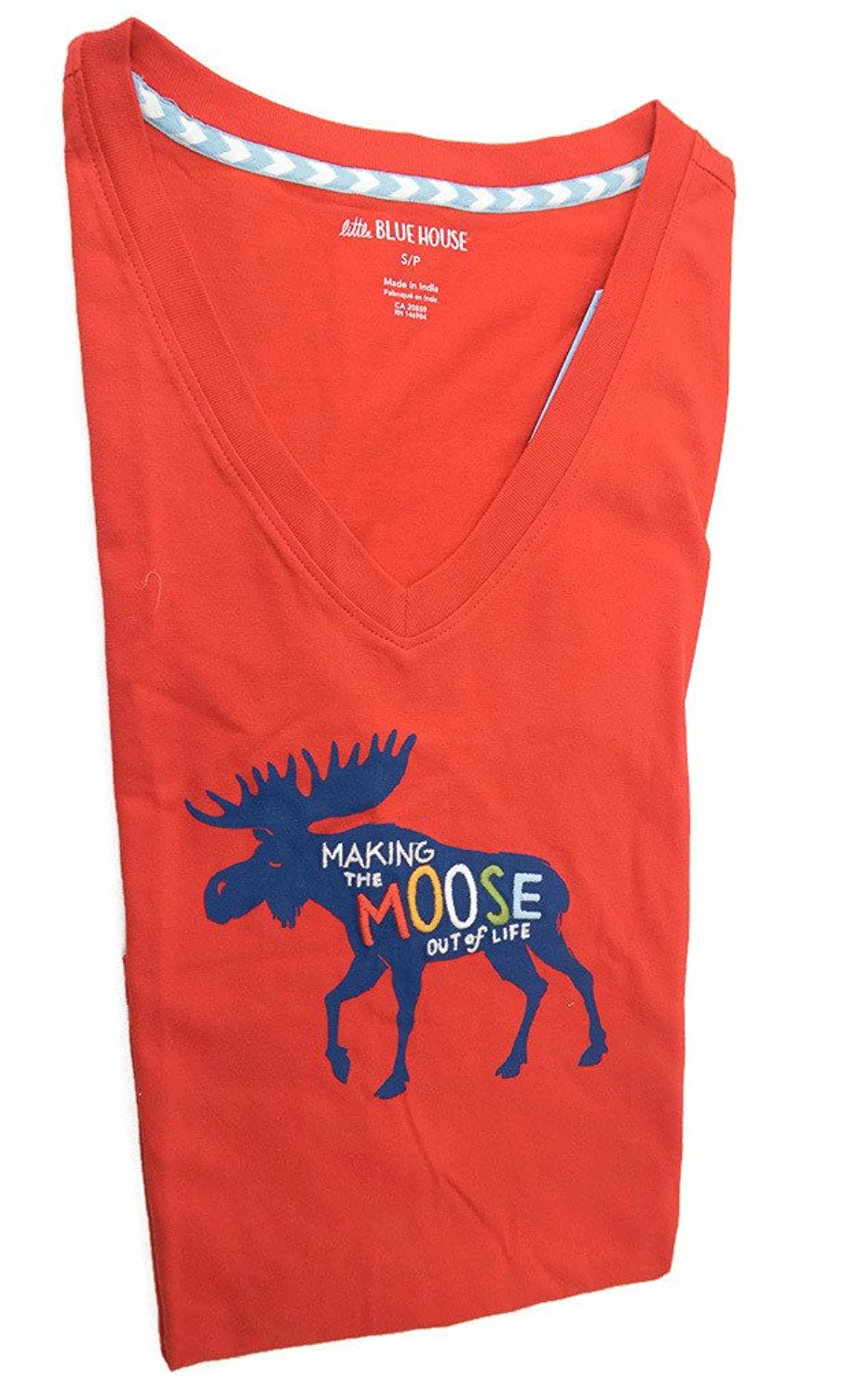 Little Blue House by Hatley Women's Classic Pajama Tee Making the Moose out of Life
