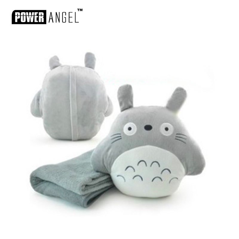 anime hayao miyazaki totoro plush pillow with a blanket inside plush Toy <strong>Animal</strong>