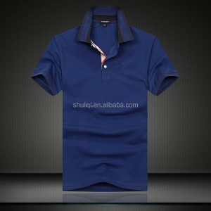 Men's Blueberry Short Sleeve Pique Polo T-shirt