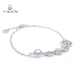 Wholesale Popular Fashion Jewelry Bracelet Custom Made Women Bangle Pearl Bracelet
