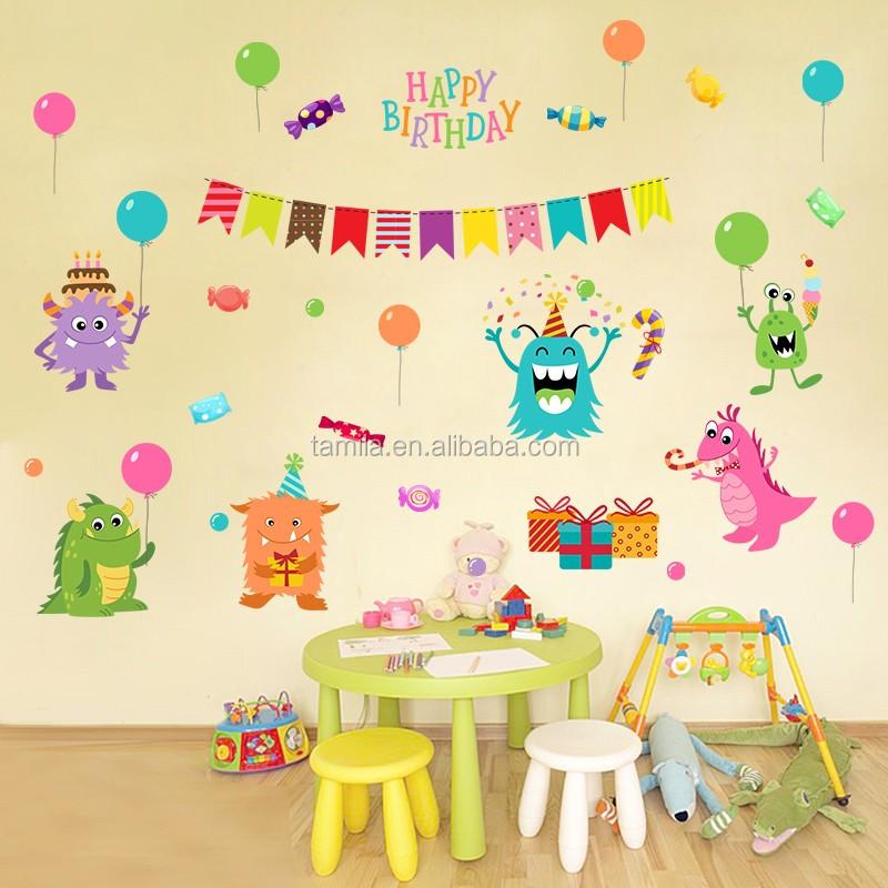 Outstanding Birthday Wall Decoration Photos - Wall Art Design ...