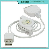 USB 2.0 Retractable Data Cable for iPhone 4/4S iPod Nano Touch