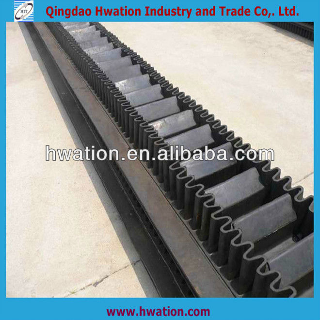 polyester belt canvas corrugated sidewall conveyor belt