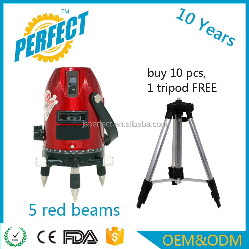 Factory oem cheap red 5 beams 4v1h1d laser level ceiling machines