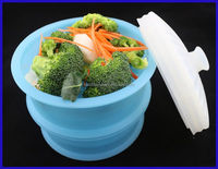 Cool design silicone microwave cookware with lid
