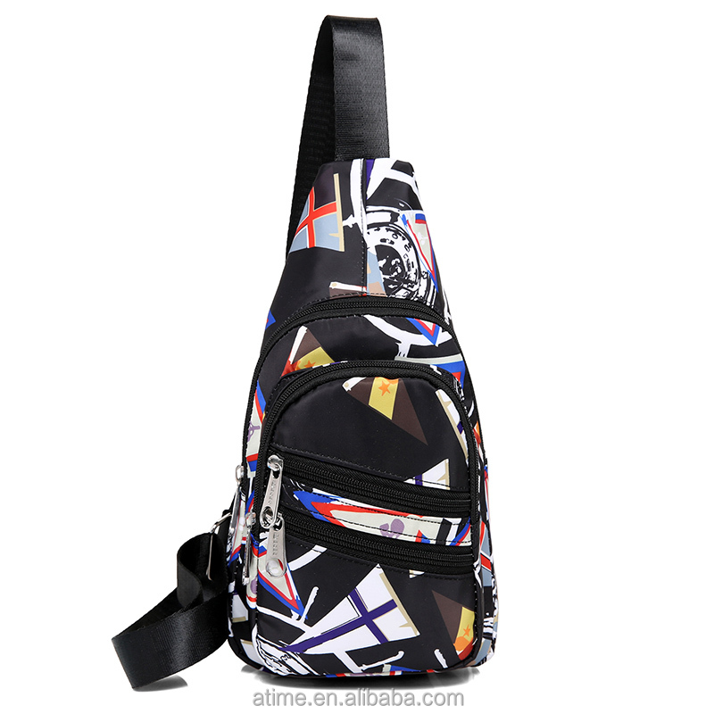 Cheap simple and elegant <strong>fashionable</strong> and leisure printed chest bag