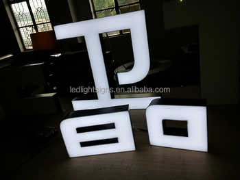 Letters Met Licht : Randloze acryl borstel rvs led licht marquee letters metal sign
