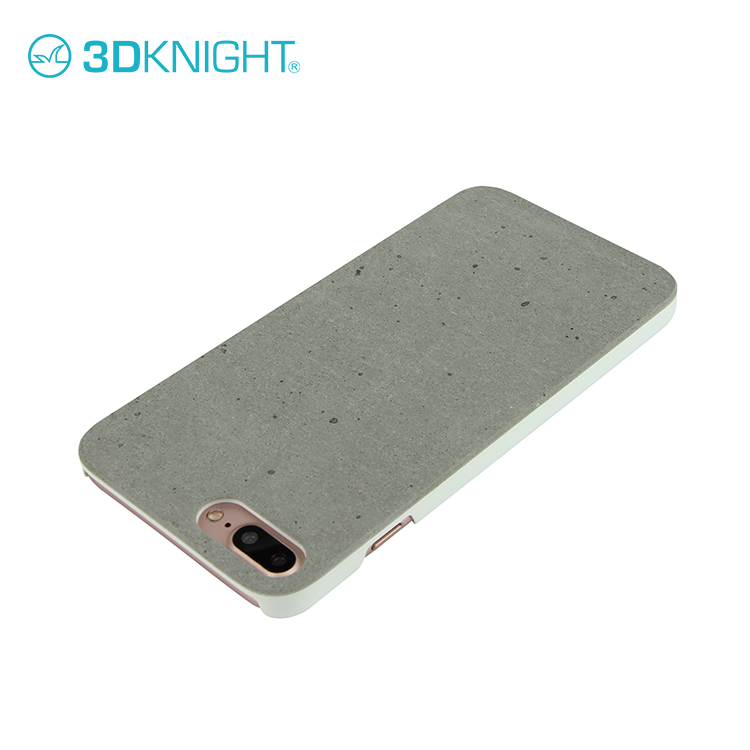 Customize top quality protective cement phone back cover for iphone 7 8 plus cement case