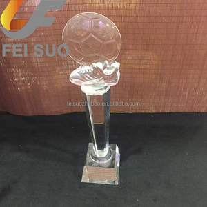 Custom engraved crystal sports award cheap fantasy football trophies