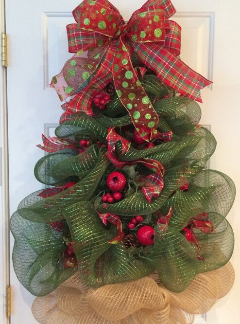 Decoracion de arboles de navidad 2016 con malla for Decoracion arbol navidad 2016